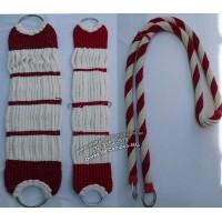 Conjunto de Barrigueiras e Rédea de lã argolas inox SECJ02