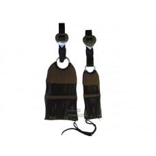 Conjunto Barrigueira e Cilha de lã c/ Látecos cor Marrom SE1130