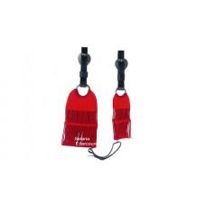 Conjunto Barrigueira e Cilha de lã c/ Látecos cor Vermelha SE113002
