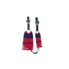 Conjunto Barrigueira e Cilha de lã c/ Látecos cor Vermelha com Preto SE113001