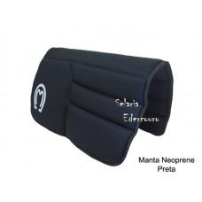 Manta Mangalarga Marchador Neoprene Preta SE16106