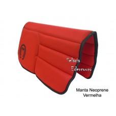 Manta Mangalarga Marchador Neoprene Vermelha SE16107