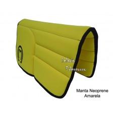 Manta Mangalarga Marchador Neoprene Amarelo SE16101