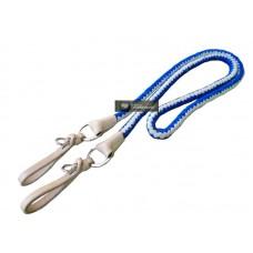 Redea Leve de Lã cor Azul Trabalhada argolas Inox SE204402