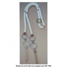 Redea de lã torcida com argolas em aço inox SE1168