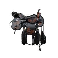 Sela Americana Completa para Cavalgada Couro de búfalo SETOP4000